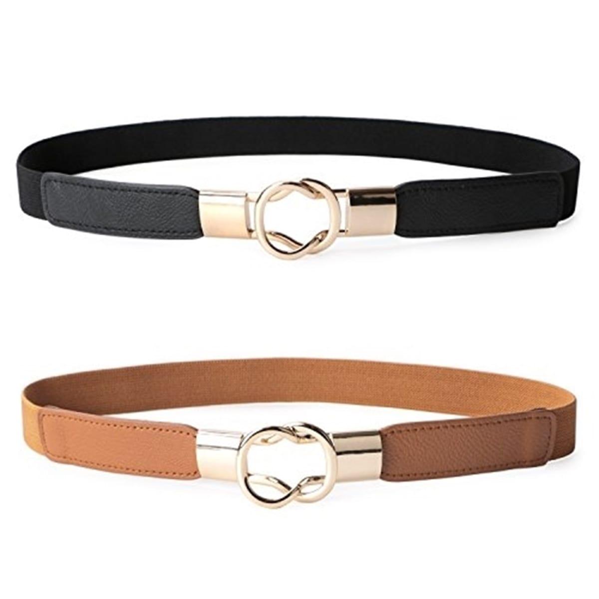 2-Pack Jane Women's Skinny Belt