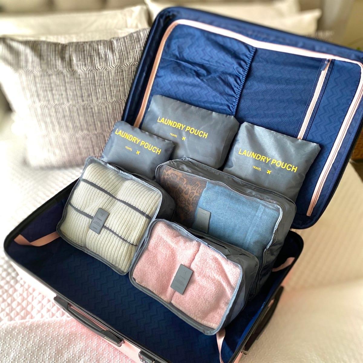 6 Piece Travel Bags! .99 (REG .99) + Free Shipping at Jane!