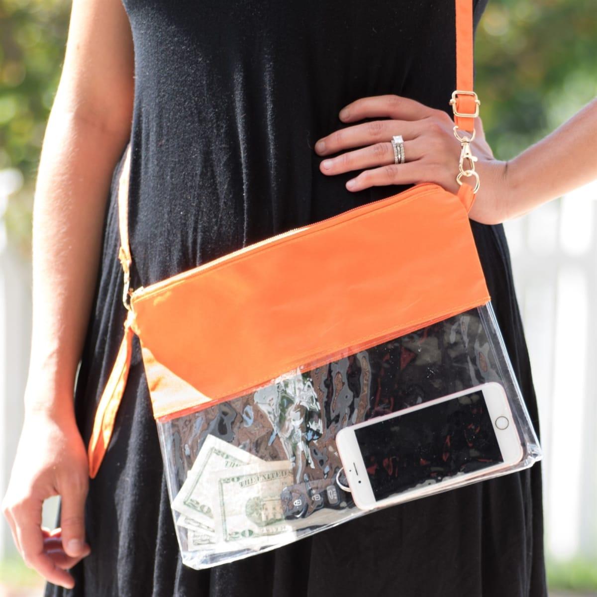 Jane Clear Stadium Hand Bag