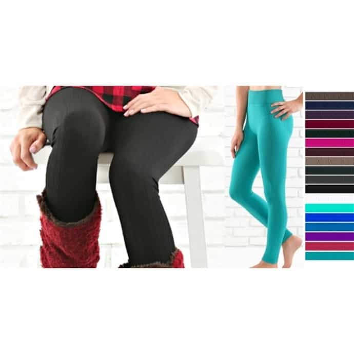 b2ed49863ee4b8 Cable Texture Fleece Lined Leggings | Curvy Added | Jane