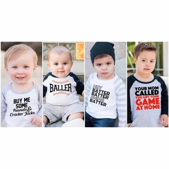 ce68a3805 Baseball Raglan Shirts & Bodysuits | 7 Designs | Jane