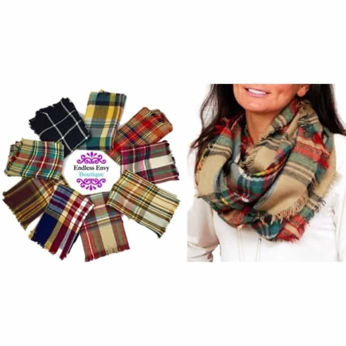 6ae32225c Plaid Infinity Blanket Scarf   16 Styles   Jane