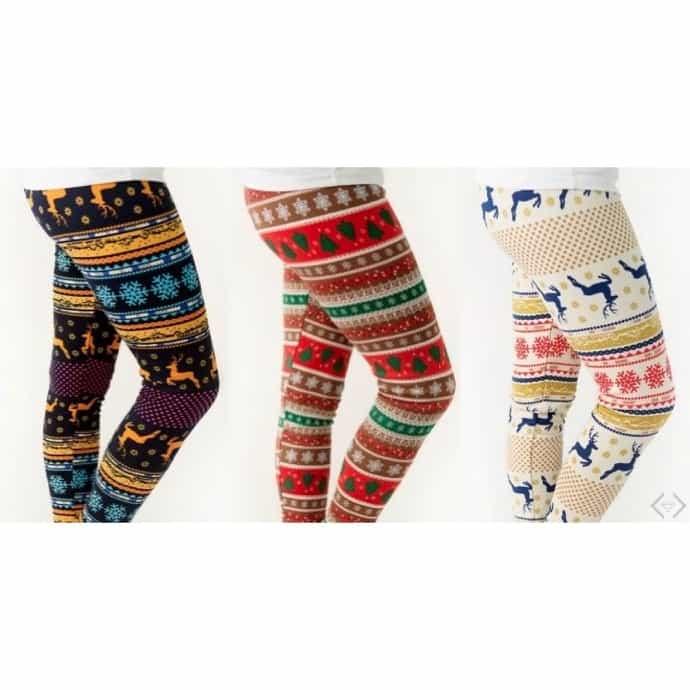 5339b0dc68d306 Fleece-Lined Holiday Leggings | Jane