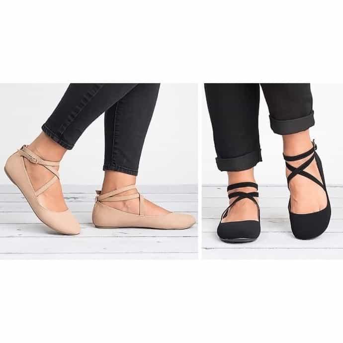 2865fa87b Criss Cross Ballerina Flats | Jane