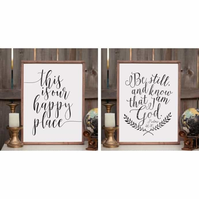 Rustic Wooden Signs Home Decor Wall Art