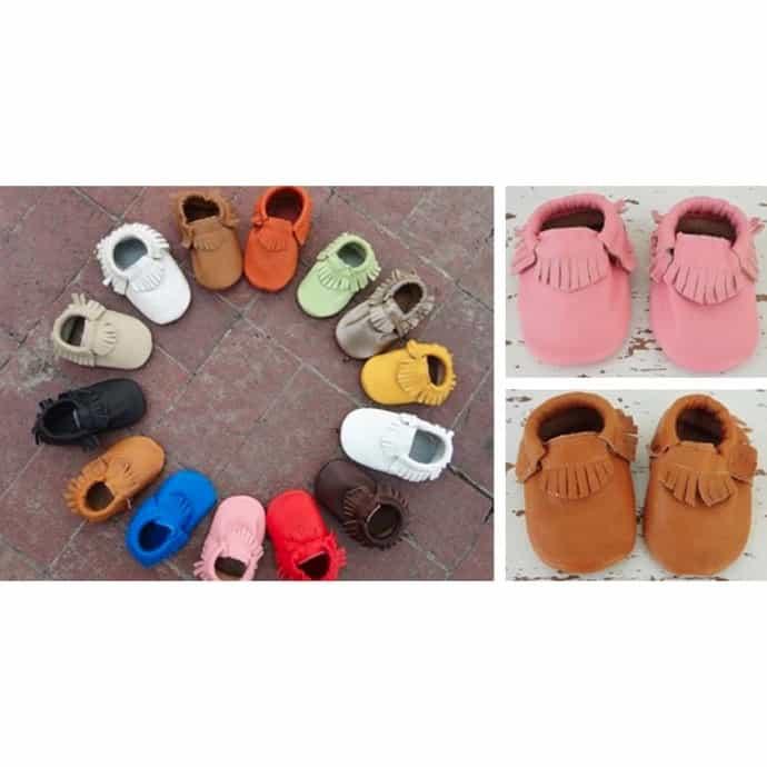 c69a70b362531 Genuine Leather Baby Moccasins | Jane