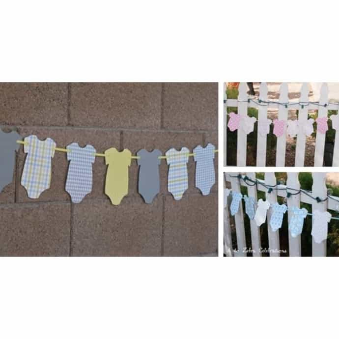 Baby Shower Onesies Banners Jane