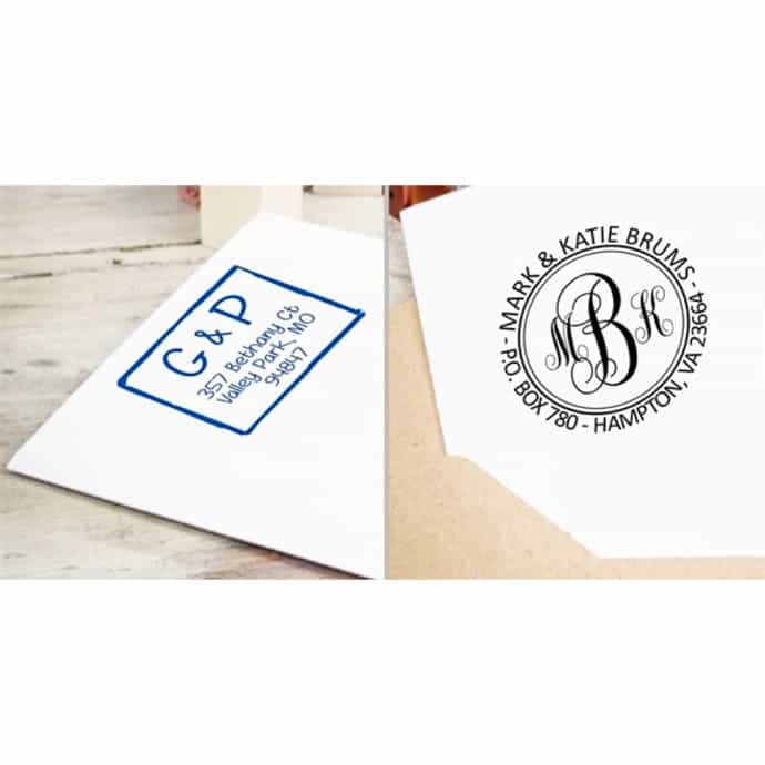 Personalized Return Address Stamps 16 Designs