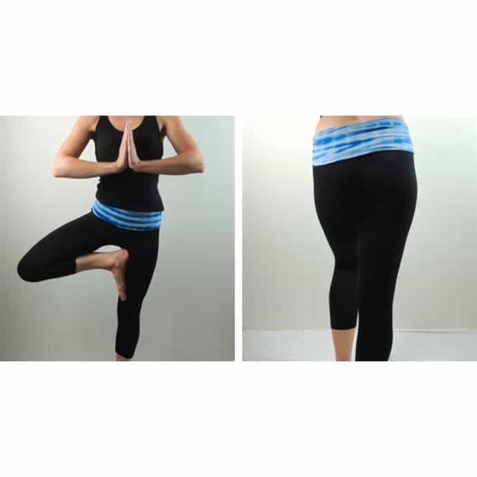 533a65abecbb55 42%You save. 0 00 00Time Left. Expired. Capri Yoga Pants with Tie-Dye Fold  Down Waist