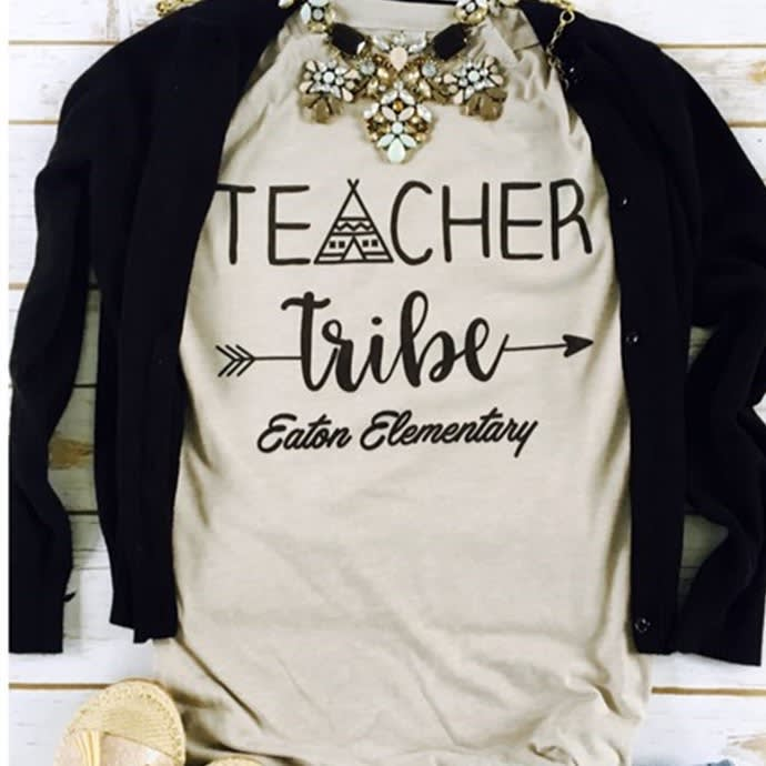 Customized Teacher Tribe Shirts