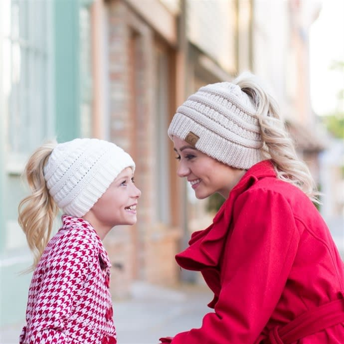 51b2b34b5a1 CC Messy Bun Beanie | Adult & Kids Sizes | Jane