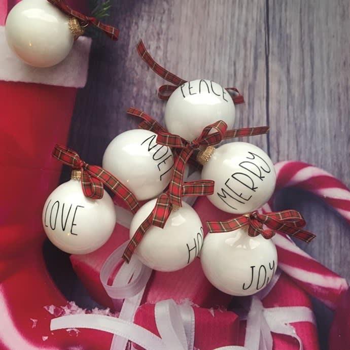 Rae Dunn Inspired Ornaments