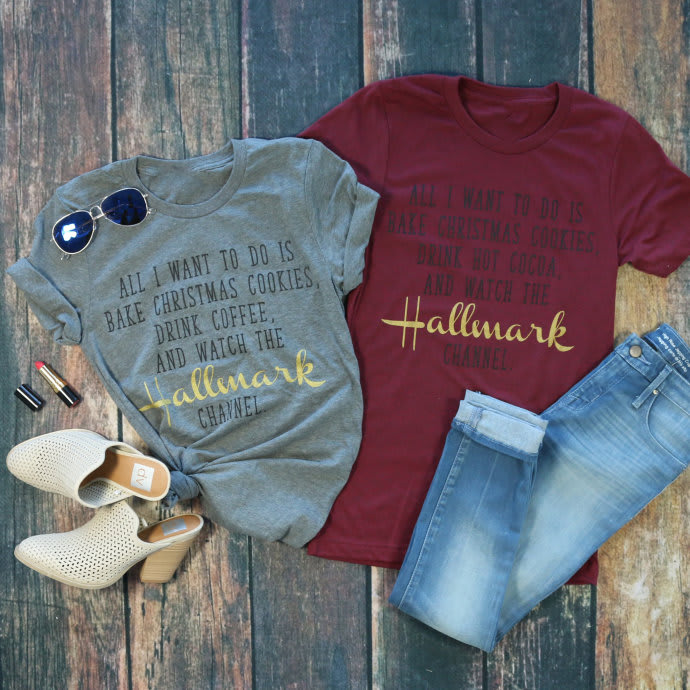 484f47560609 Hallmark Christmas Movie Tees | Jane