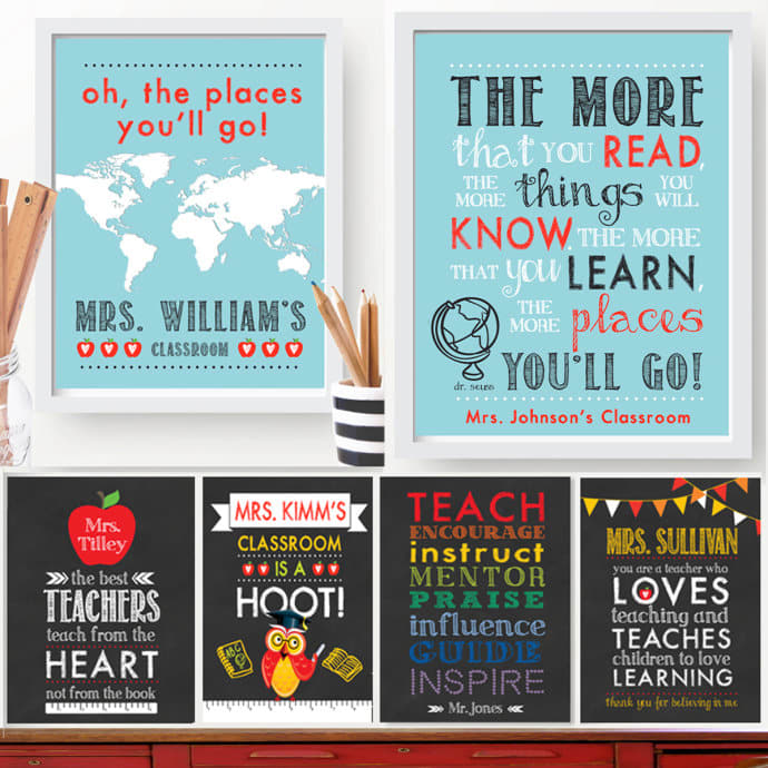 Personalized Teacher Gift Prints