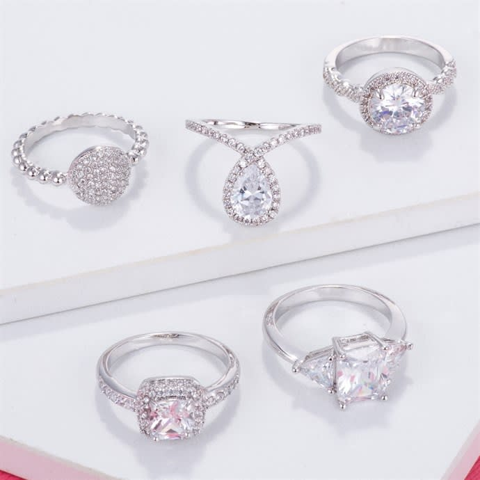 706a42843 Swarovski Crystal Engagement Rings | Jane