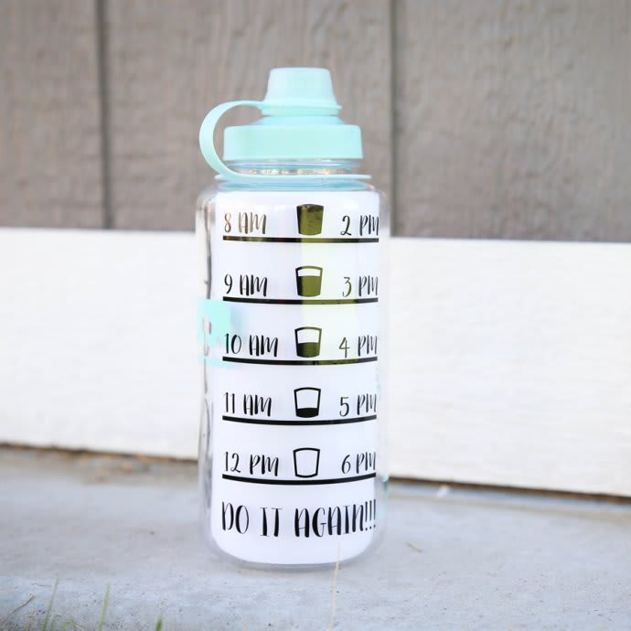 f0a7a2707b Water Bottle Tracker Vinyl Decal | Jane