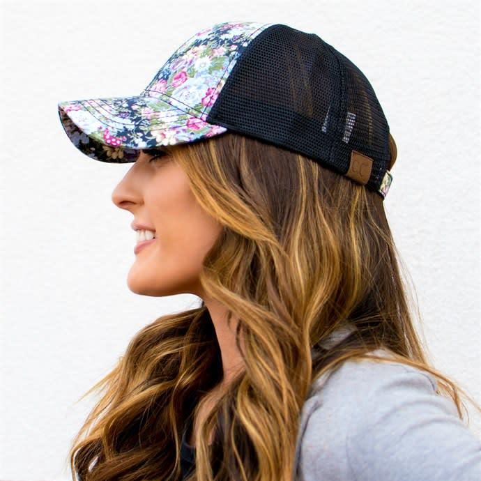 3d044660b C.C Brand Floral & Dots Trucker Hats