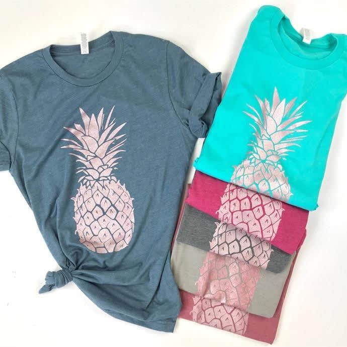 c4f058b78b58 Rose Gold Pineapple Tees | Jane