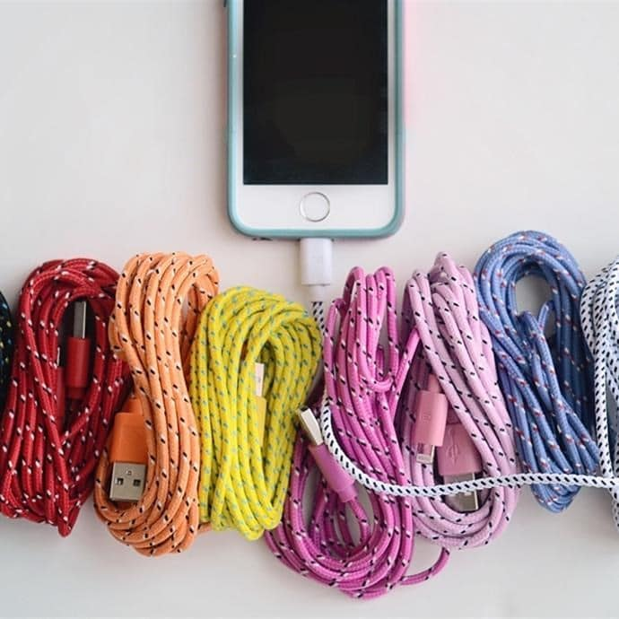 factory price d65ab 6c916 10 Foot Bungee Charging Cable | iPhone + Samsung