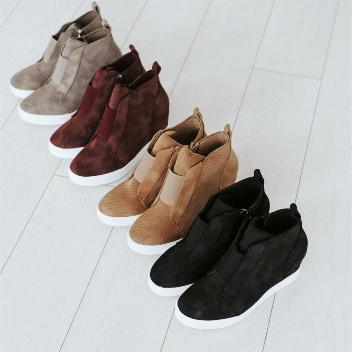 c3c4af40da Zoey Zipper Wedge Sneaker | 4 Colors! | Jane