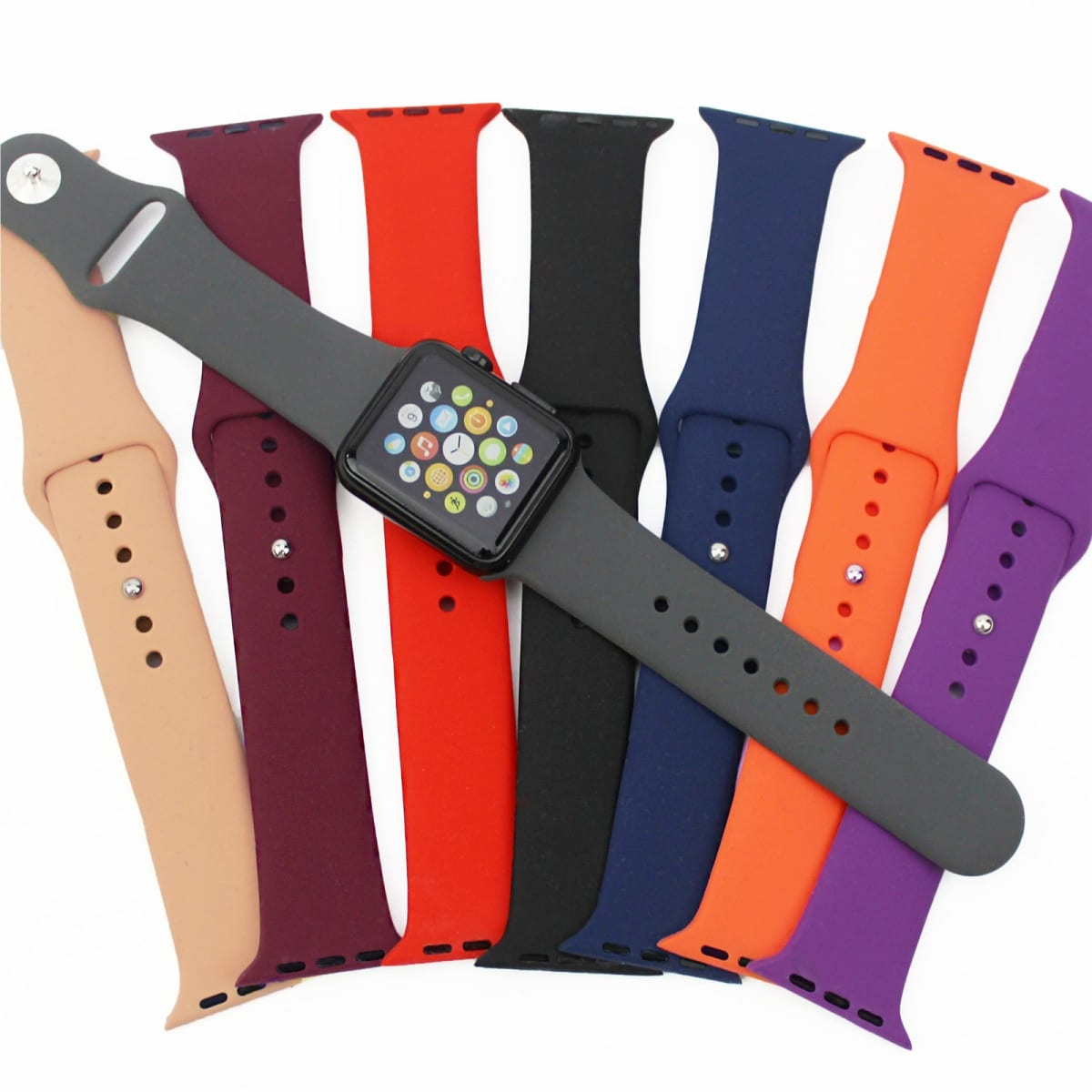 4d3d88516e37 Apple Watch Silicone Band | 21 Colors | Free Shipping | Jane