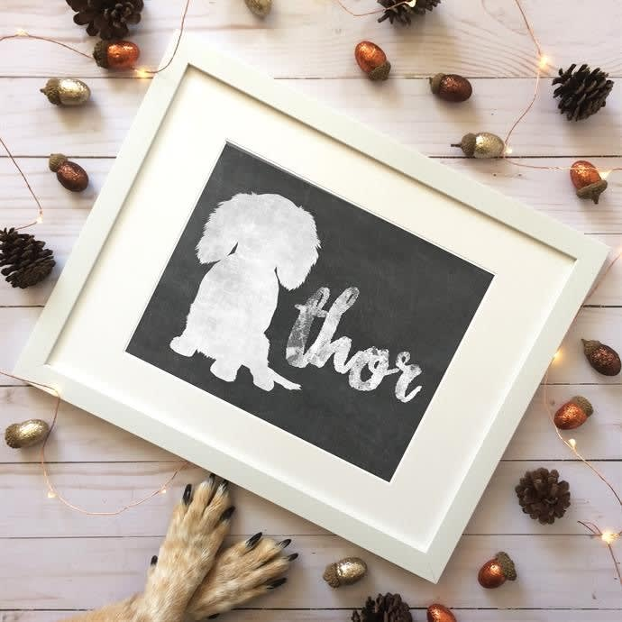 b8983f5d313ae Custom Chalkboard Pet Art Prints