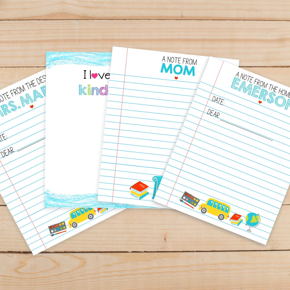 Personalized Notepads Gift Packaged