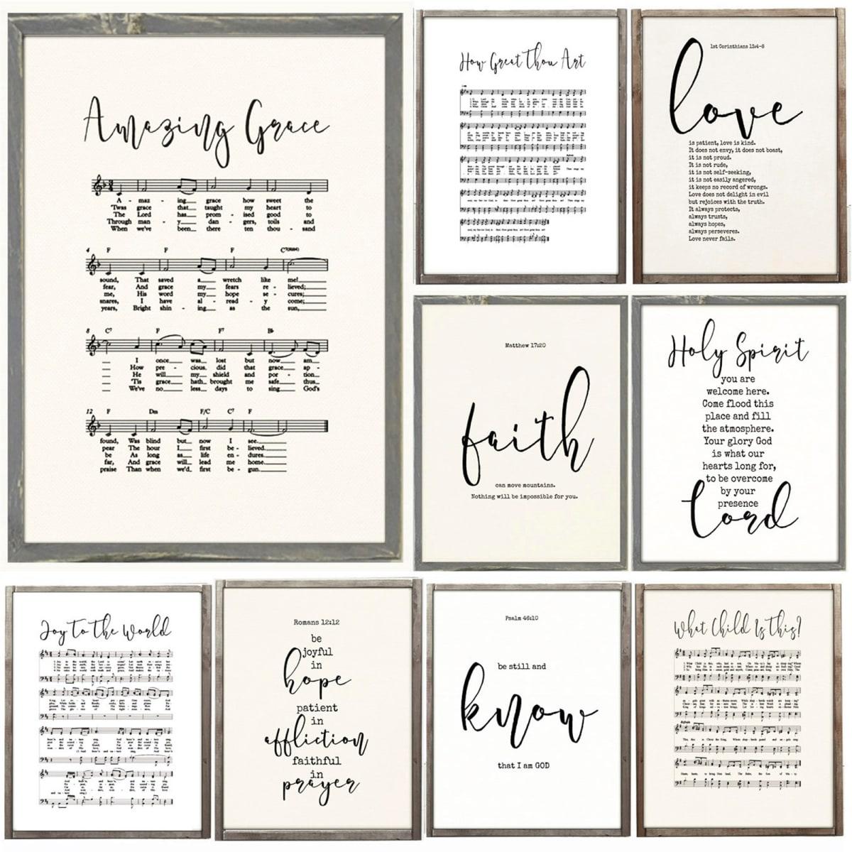 Lg  Bible & Hymn Canvas Print | 3 Sizes