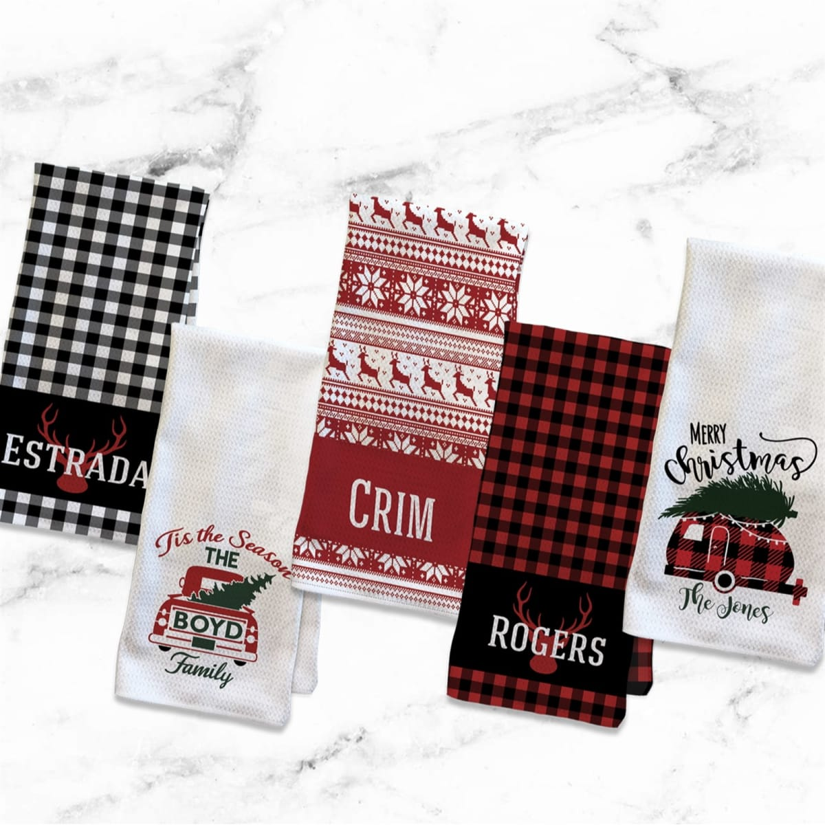 Personalized Christmas Kitchen Towel