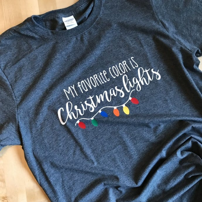 My Favorite Color Is Christmas Lights Holiday Tee Jane