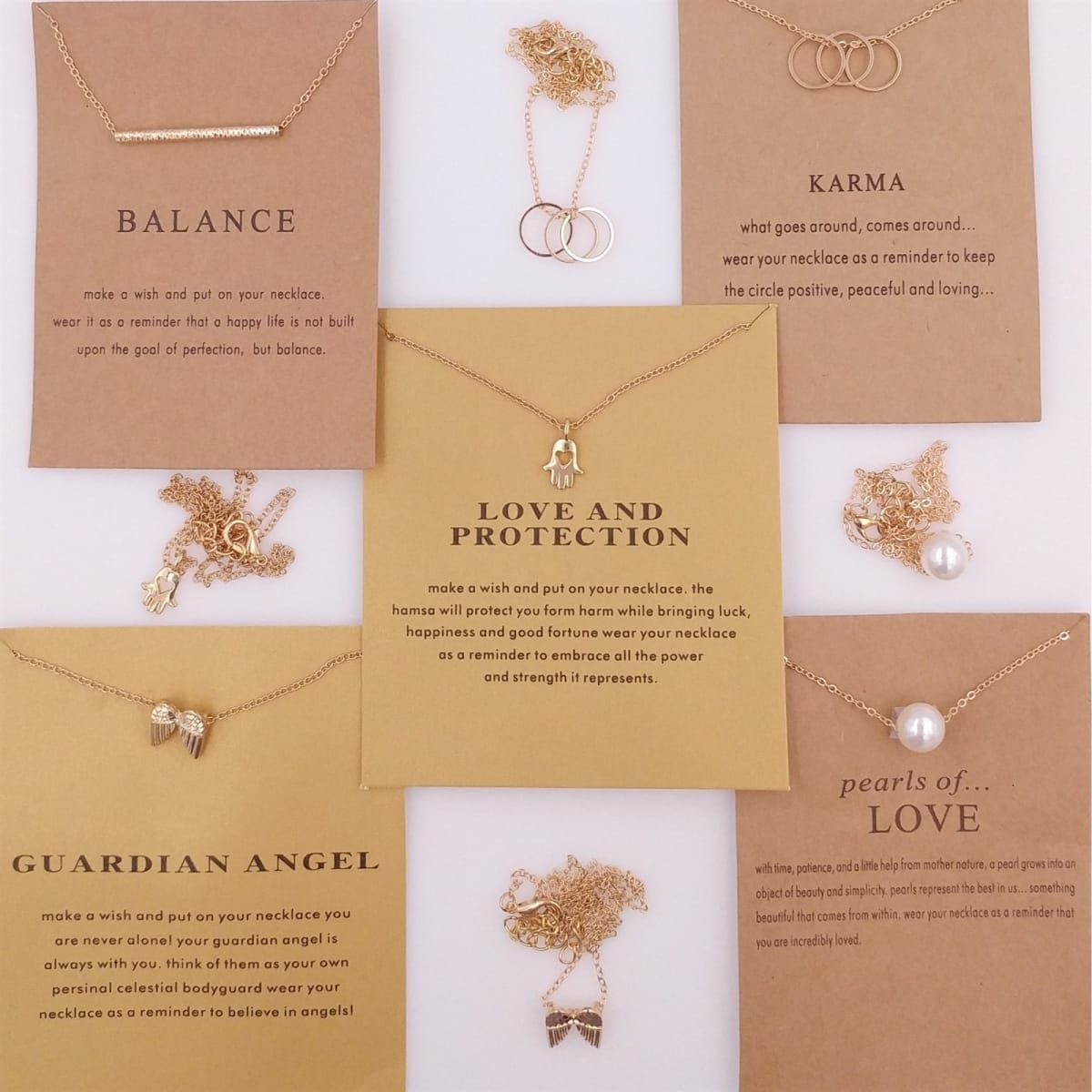 Sentimental Necklace on Card | 26 Styles