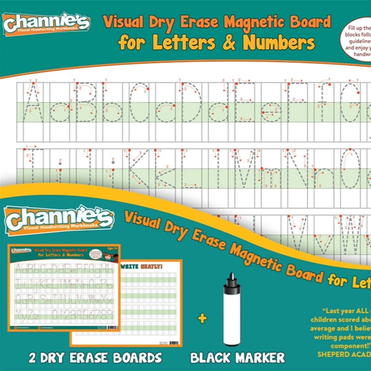 Dry Erase Magnetic Alphabet Boards 2 Pack Free Shipping Jane