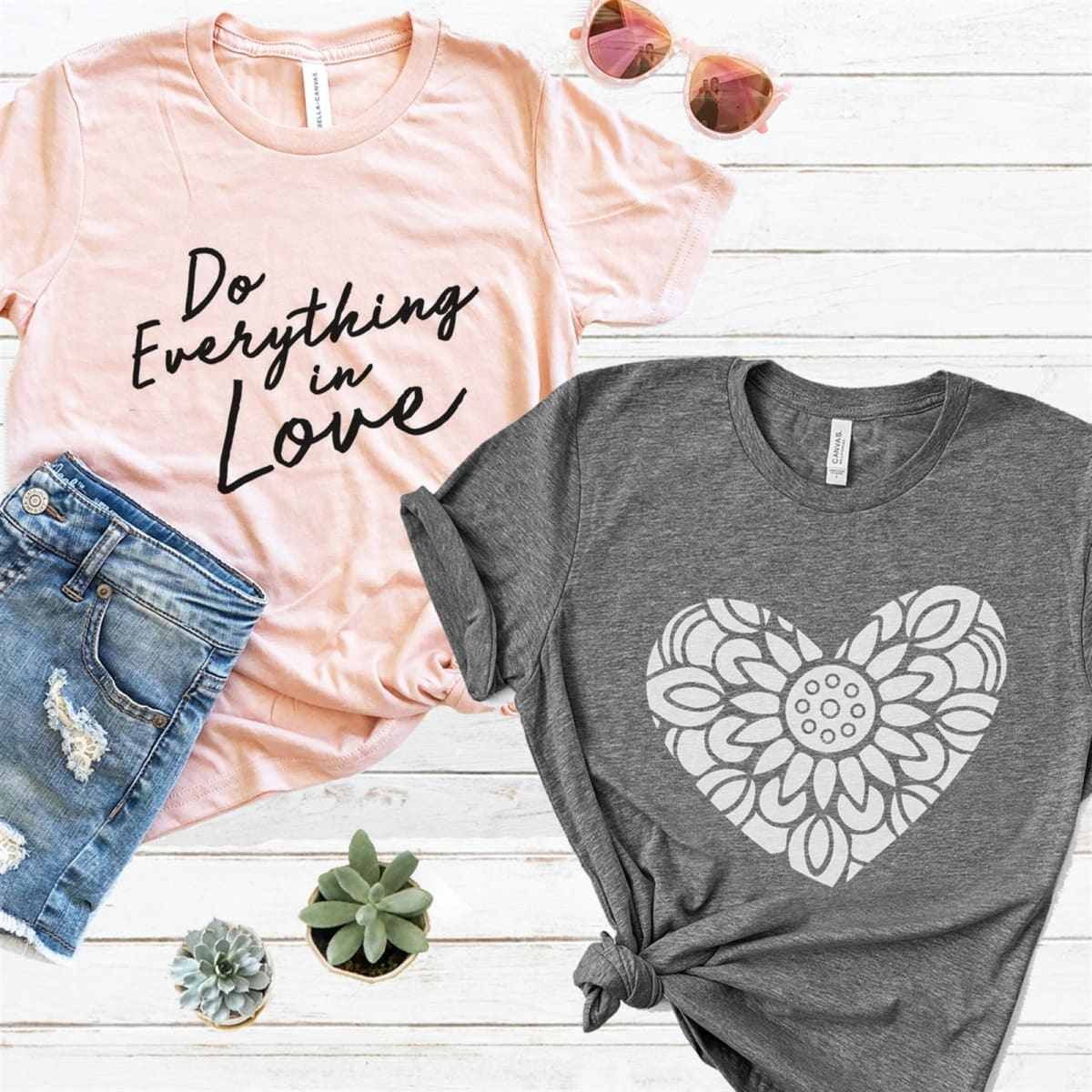 422a6e17b Fit & Details. UNISEX, Relaxed Fit. Read More. Everyday Love Graphic Tees | Rose  Gold