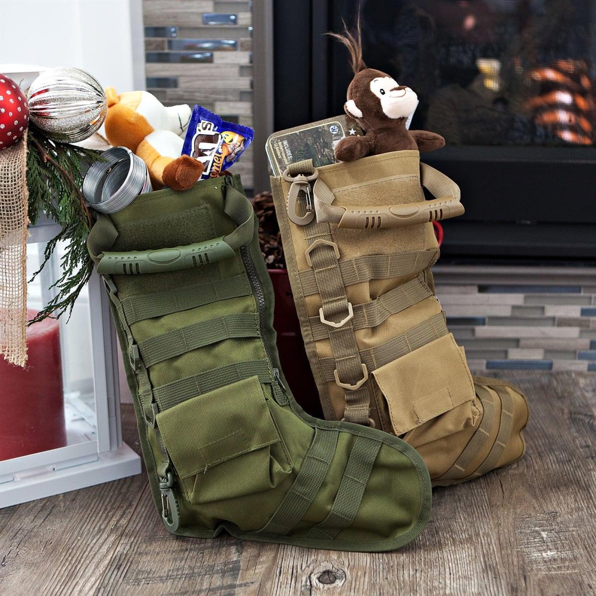 Tactical Christmas Stocking Stuffed.Tactical Christmas Stocking