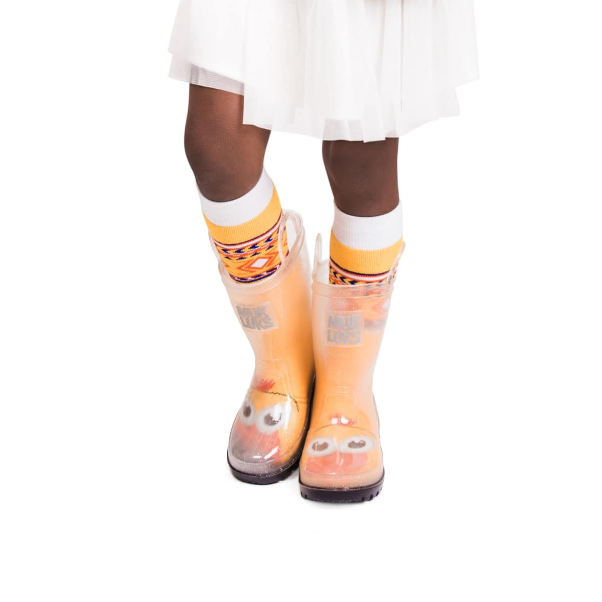 188eb65215b83 Girl's Clear Rainboots w/ 5-Pk Socks | Free Shipping | Jane