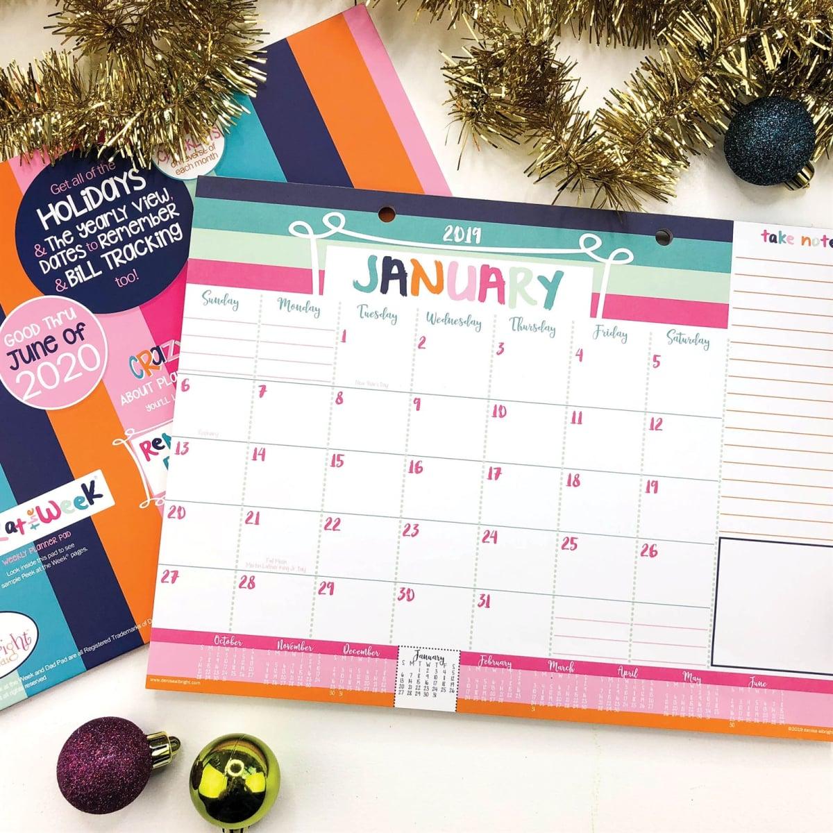 Mini Desk Calendar 2020 2019 2020 Mini Desk Calendar | 18 Month | Jane