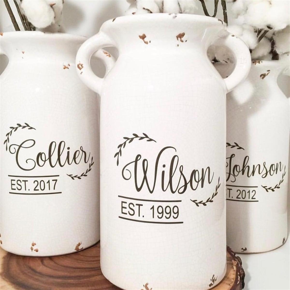 Personalized Ceramic Milk Jug