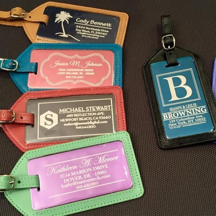 Personalized Luggage Tag Leather Case Free Shipping
