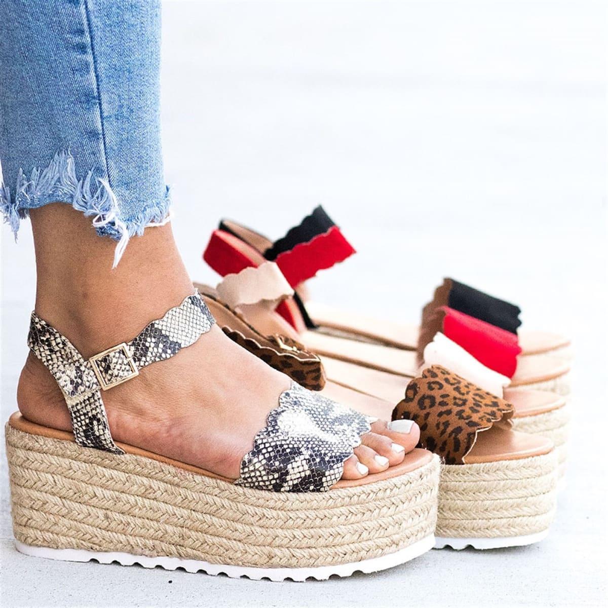 bec45d3dbea Scalloped Espadrille Platform Sandals