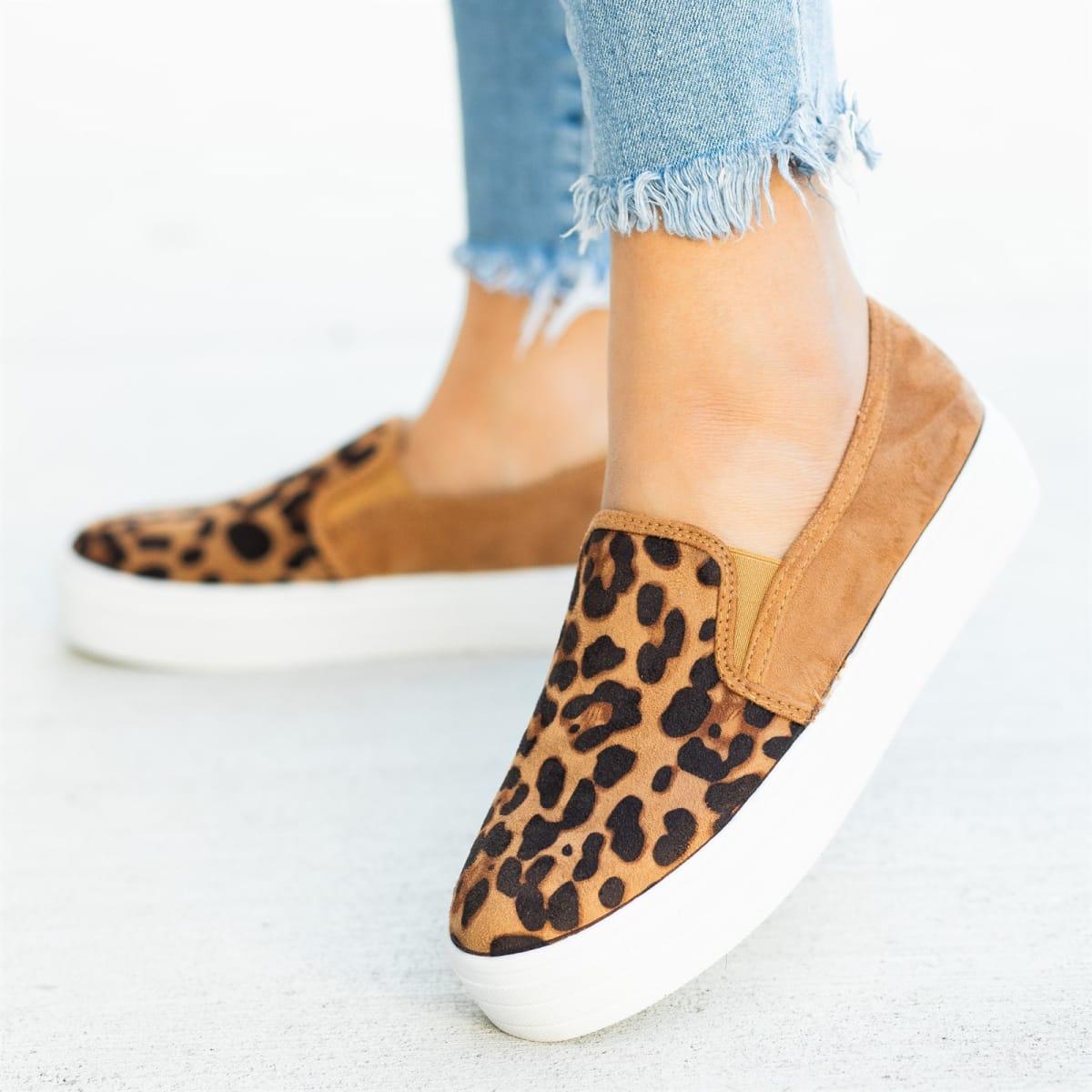 d0d3c4fbb5c Chic Leopard Platform Sneakers