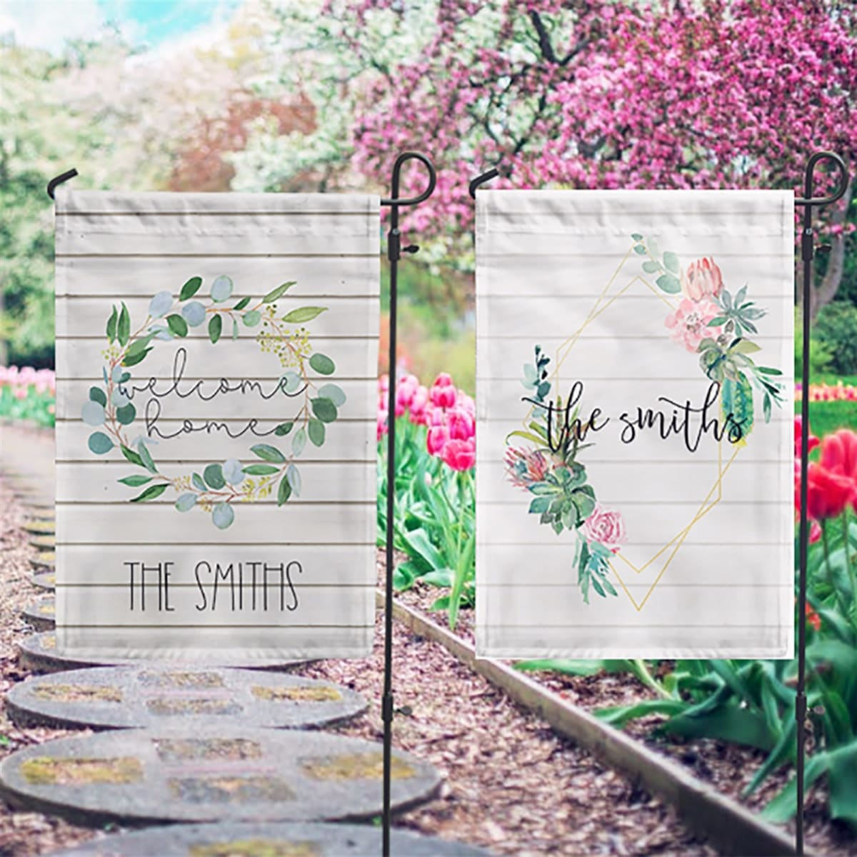 Personalized Garden Flags Free Shipping