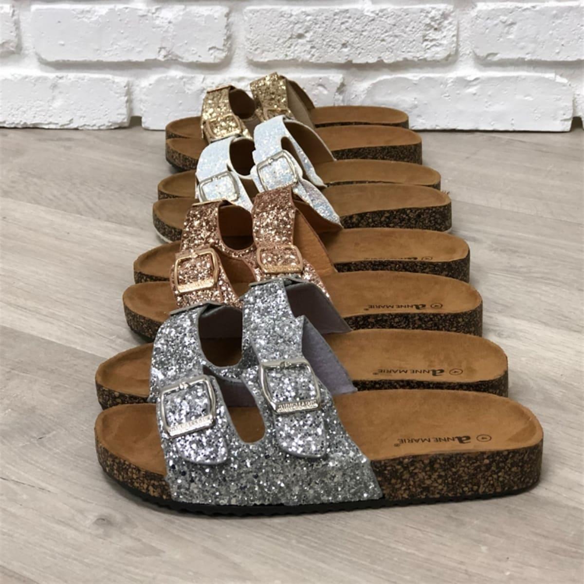 96cd5d4e08cb Kids Glitter Two Strap Sandals