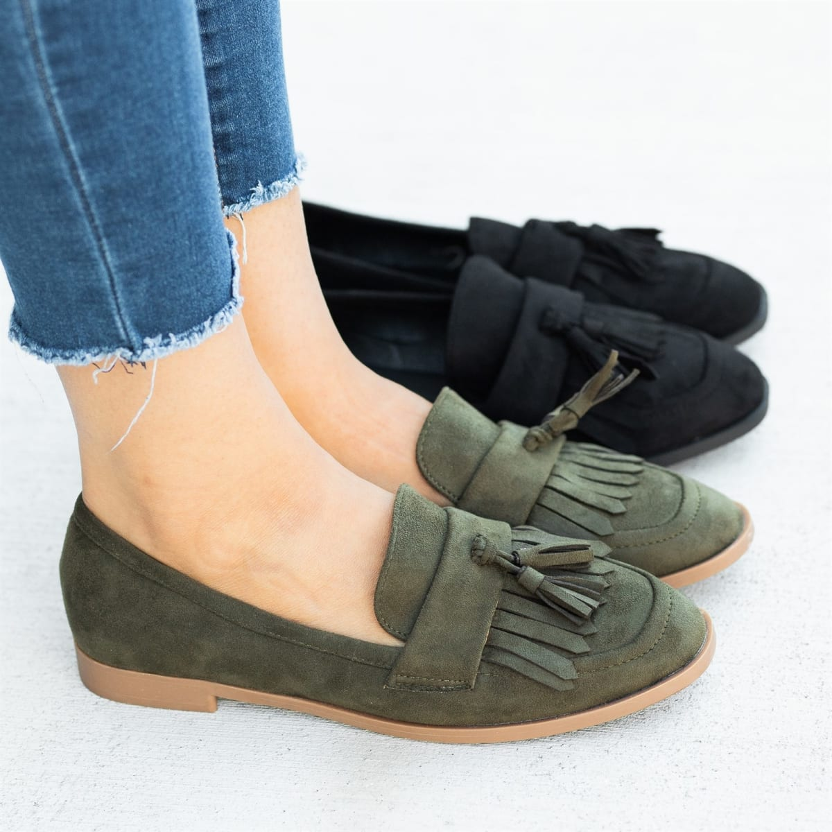 Womens Trendy Tassel Loafers