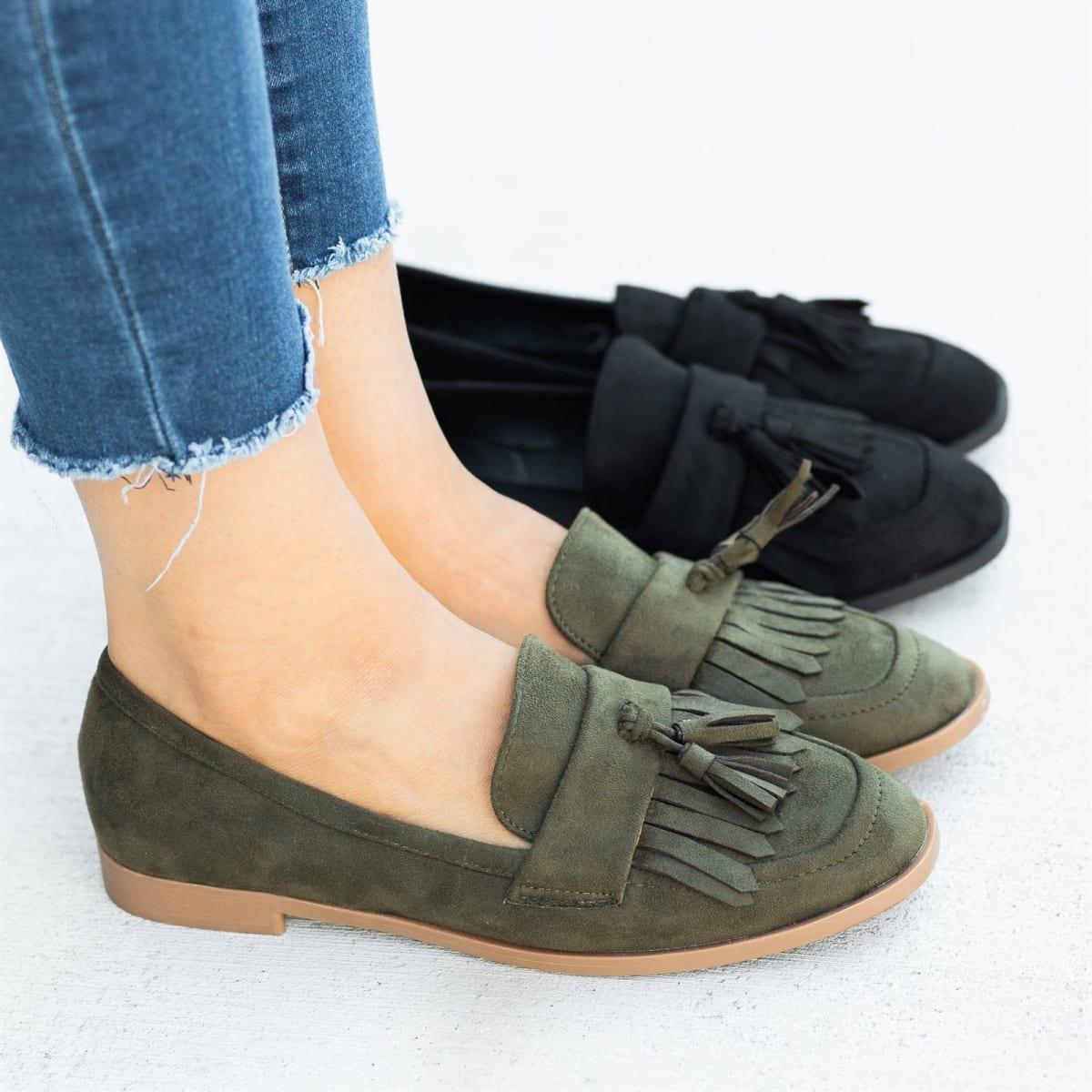 Womens Trendy Tassel Loafers