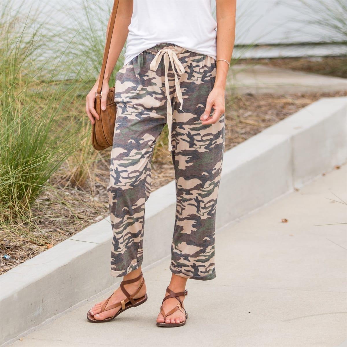 c818c943ff29c Cropped Camo Lounge Pants   Jane