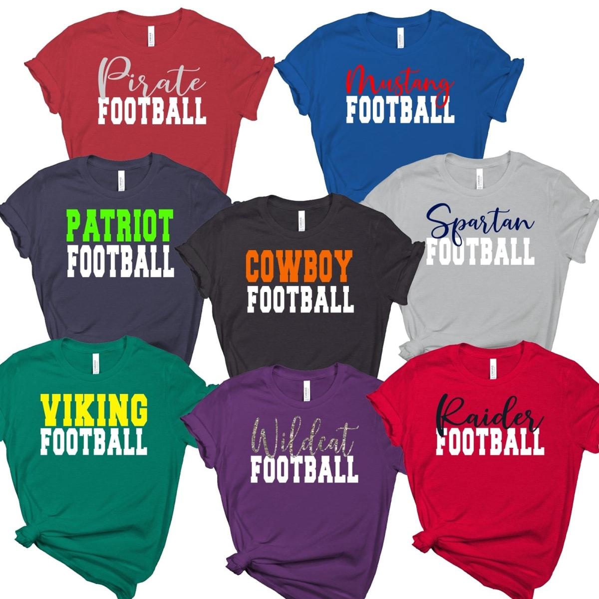 5707cad4ccb76 Personalized Football Team Shirts