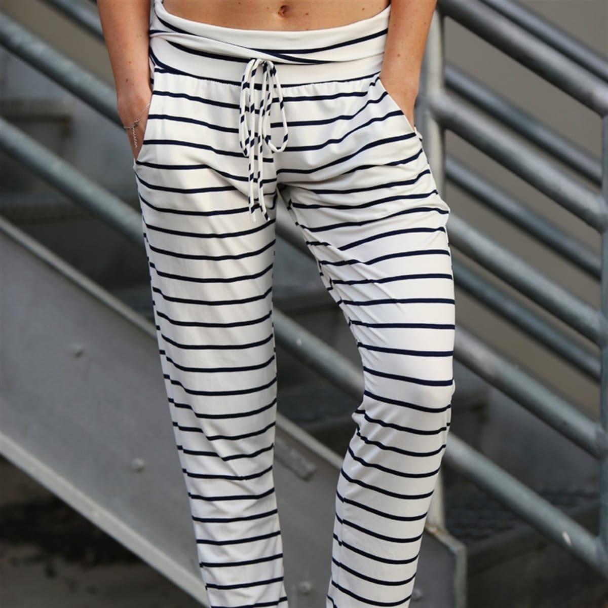 Soft Striped Lounge Pants 0