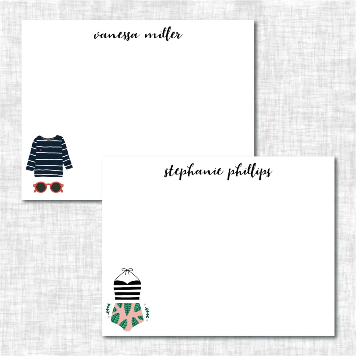 Summer Fun Personalized Note Cards