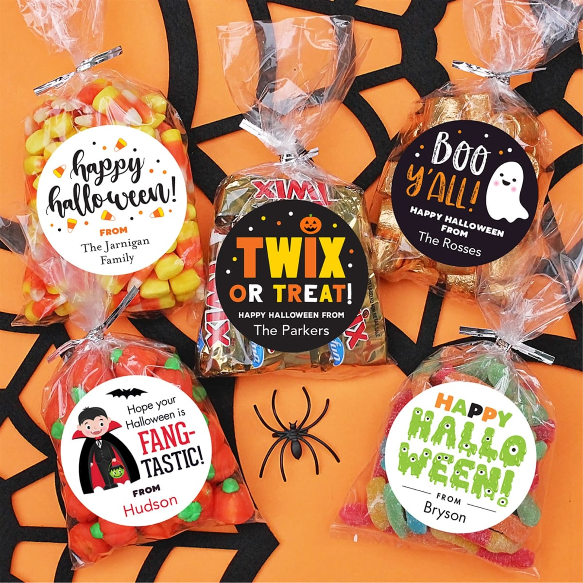 Halloween Stickers & Candy Bags