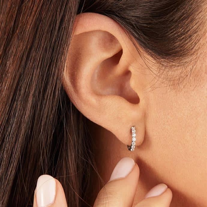 CZ Huggies Earrings (Yellow)
